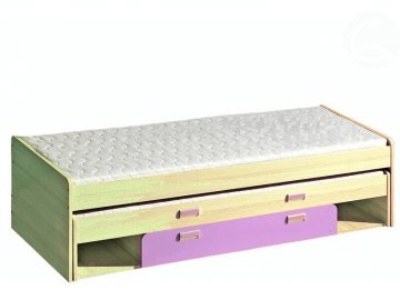 víceúčelová rozkládací postel LIMO L16 fialová vč.matrací