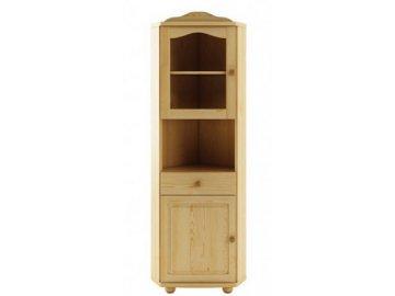Dřevěná vitrína KIK113 borovice masiv