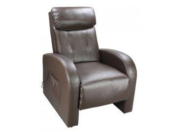 Luxusní relaxační a masážní křeslo Toledo hnědé SKLADEM
