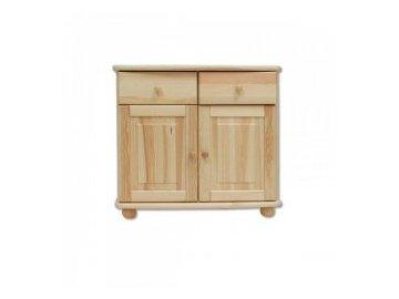 Dřevěná komoda KIK 139 borovice masív více odstínů