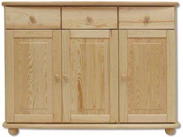 Masivní dřevěná komoda KIK 143 borovice masív 125x92x42 cm