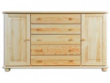 Dřevěná komoda KIK 164 rozměr : 165x92x42 cm borovice masív