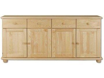 Dřevěná komoda KIK 165 borovice masív 165x92x42 cm