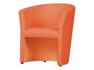 Křeslo do bytu,pracovny,kanceláře,klubovny Cuba - oranžová/ekokůže