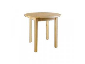 Dřevěný jídelní stůl borovice masiv ST105 průměr 90cm