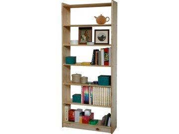 Knihovna 8012 borovice masiv, lakovaná