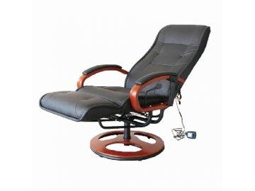 Luxusní polohovatelně elektrické masážní křeslo s podnožkou, nosnost 150 kg
