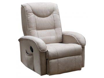Pohodlné masážní polohovatelné  TV křeslo - béžové SKLADEM