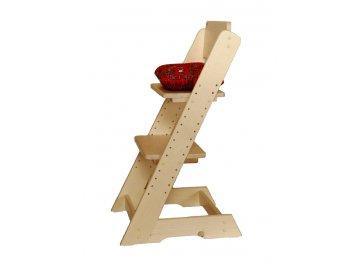 Dětská rostoucí židle Klára -přírodní provedení