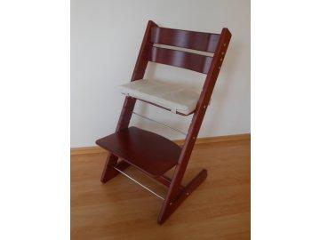 Dětská rostoucí židle provedení mahagon