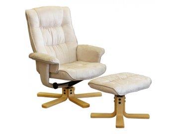 Relax Křeslo s podnožkou - masážní s možností polohování