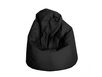 Velký sedací vak Jumbo - černý  (90 x 90 x 143 cm )