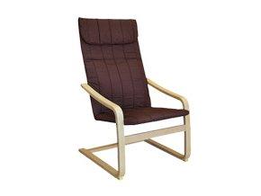 Křeslo relaxační dřevěné -  hnědé
