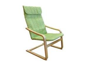 Křeslo relaxační dřevěné -  zelené
