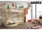Poschodové postele 90 x 200 cm