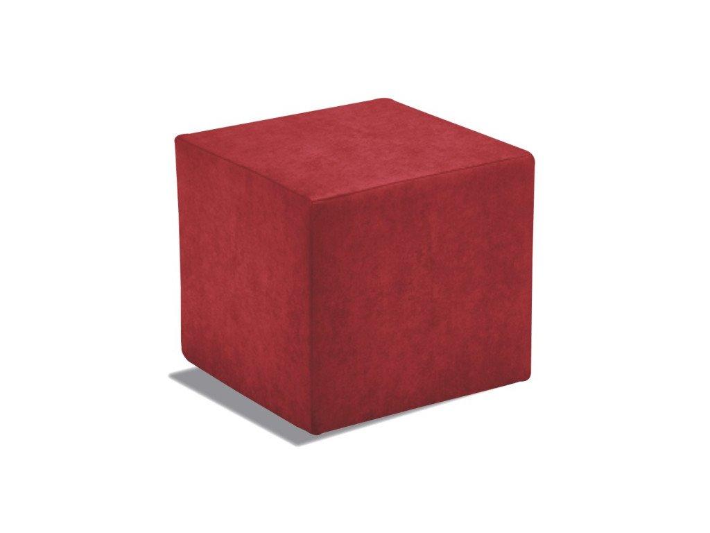 Taburet Cuby - červený/nosnost 150 kg