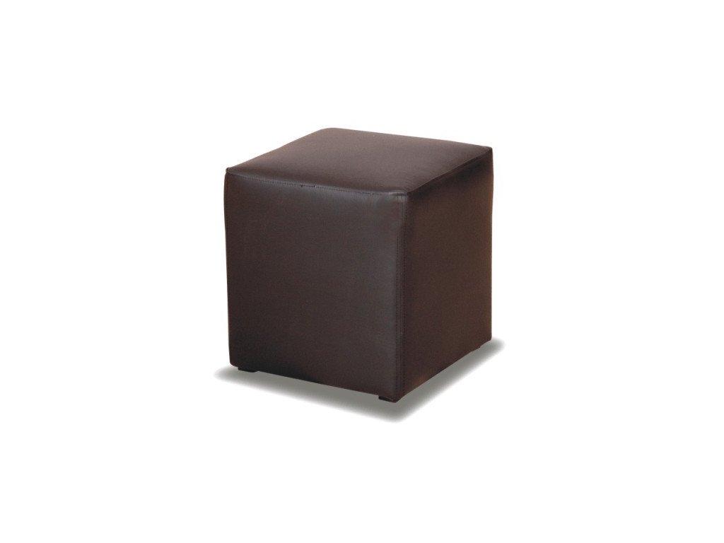 Taburet Kubík - čierny/nosnost 100 kg