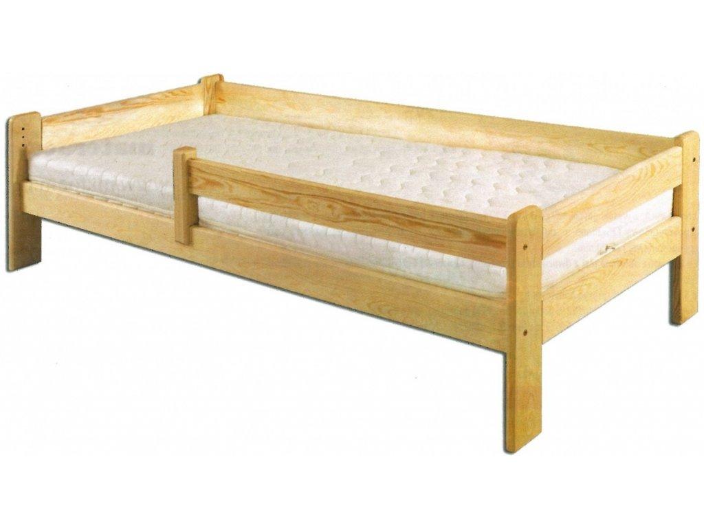 Dětská postel KIK 137 se zábranou 90x200 cm, borovice masiv