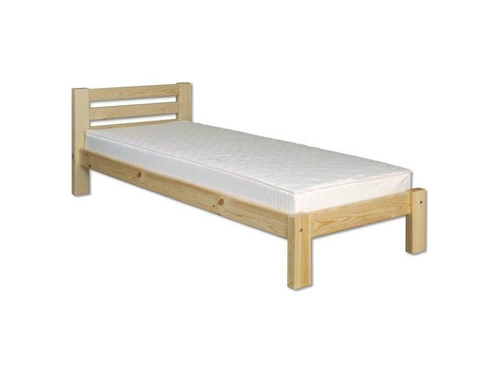 Drevená masívna posteľ -jednolůžko H127 borovica masív 90x200