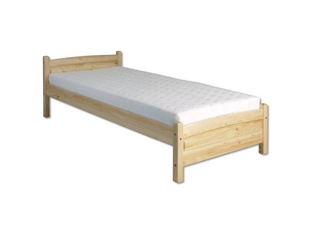 Drevená posteľ -jednolůžko H125 borovica masív 90x200 cm
