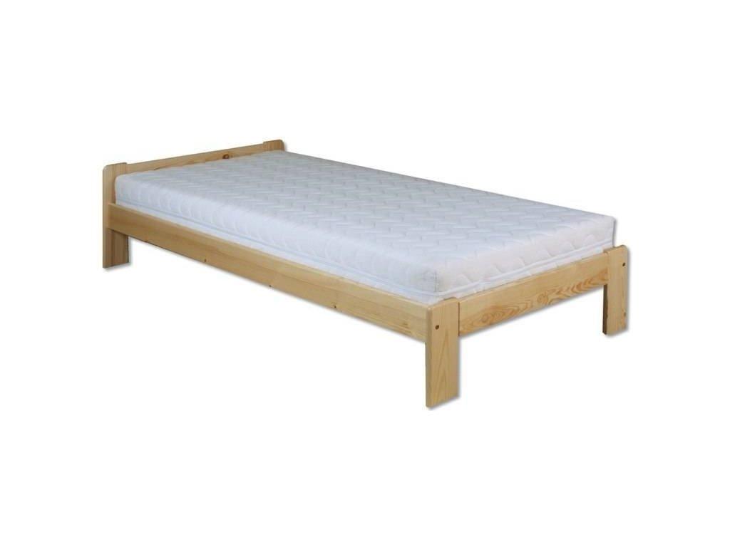 Masívna drevená posteľ -jednolůžko H123 borovica masív 90x200 cm