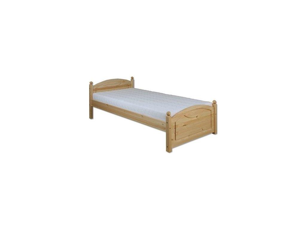 Masívna drevená posteľ -jednolůžko H126 borovica masív 90x200 cm