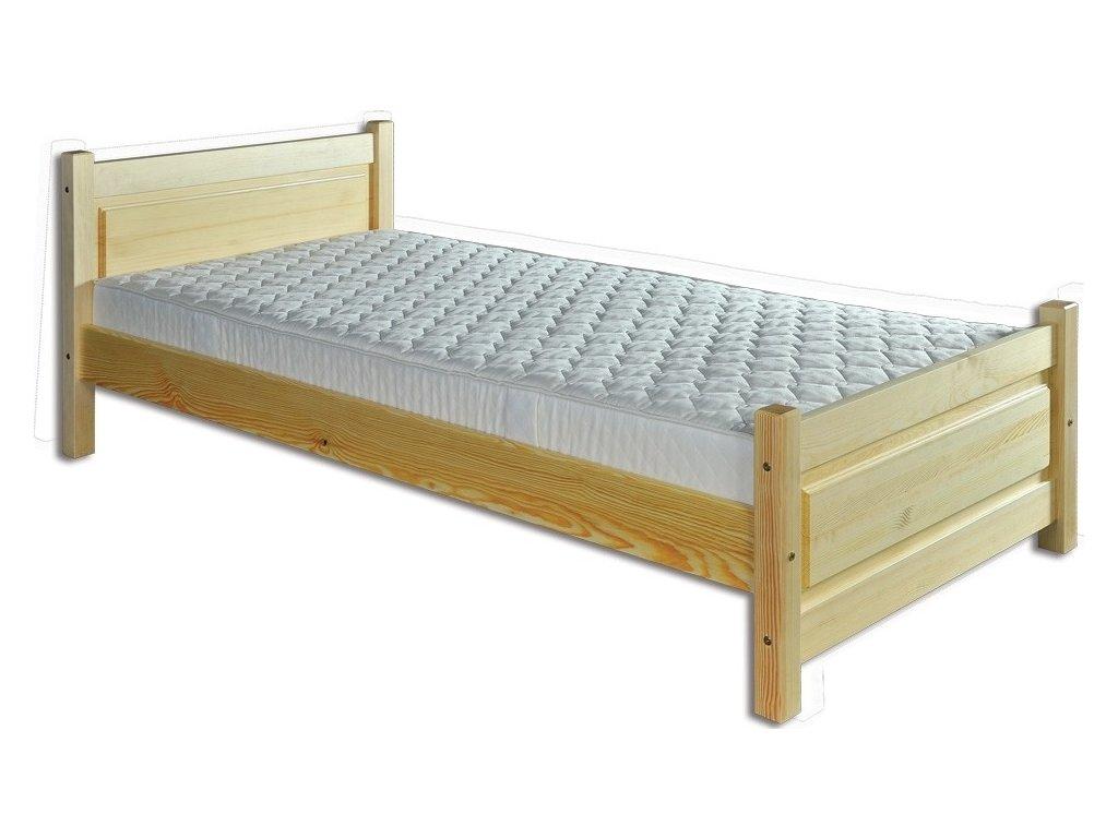 7c5e8d1d242a Masívna drevená posteľ -jednolůžko KIK 129 borovica masív 90x200 cm ...