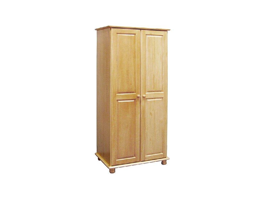 šatní skríň borovice masiv - SKLADOM