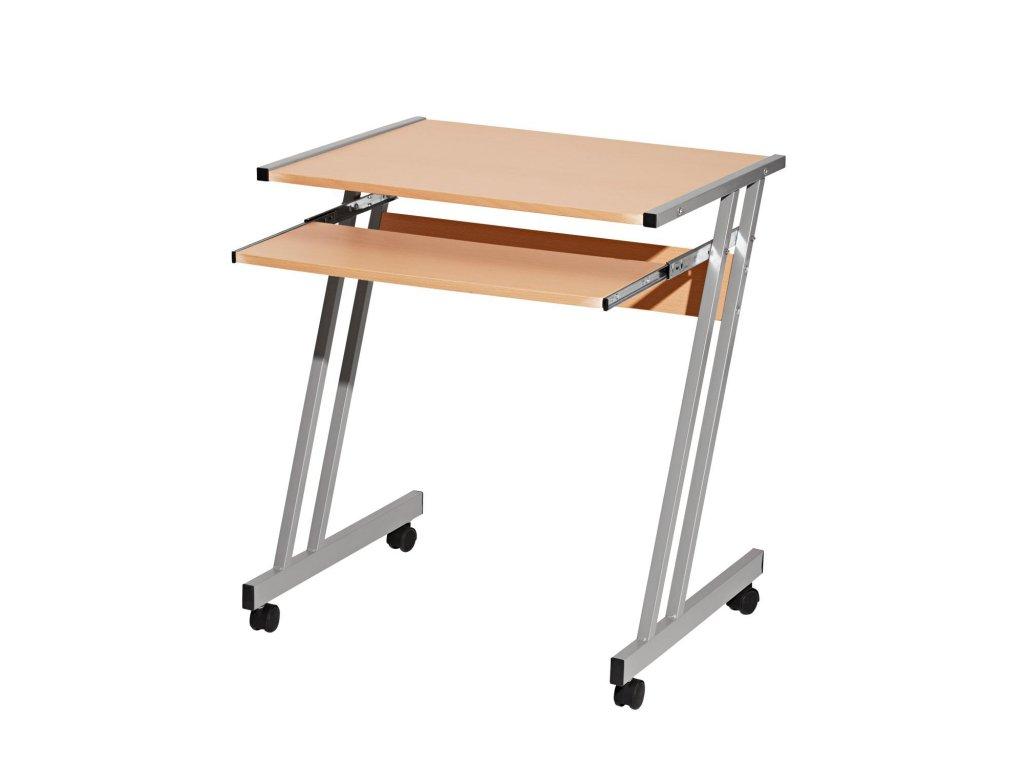 PC stôl s výsuvom pre klávesnicu