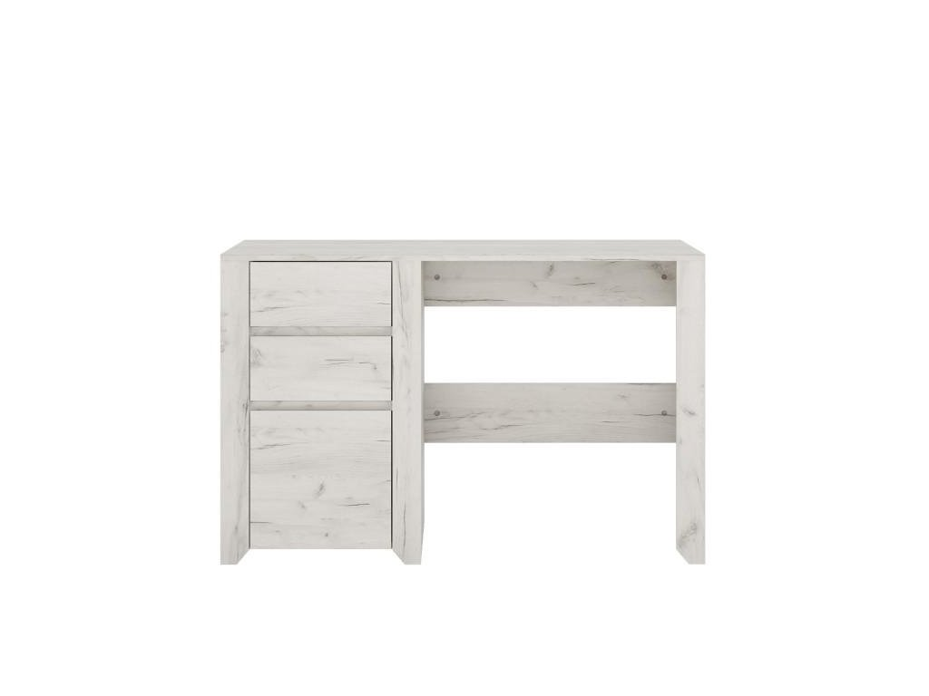 PC stôl typ 80, 3S, biela / craft, ANGEL