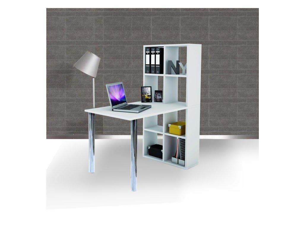 PC stôl, biely, BEXINTON