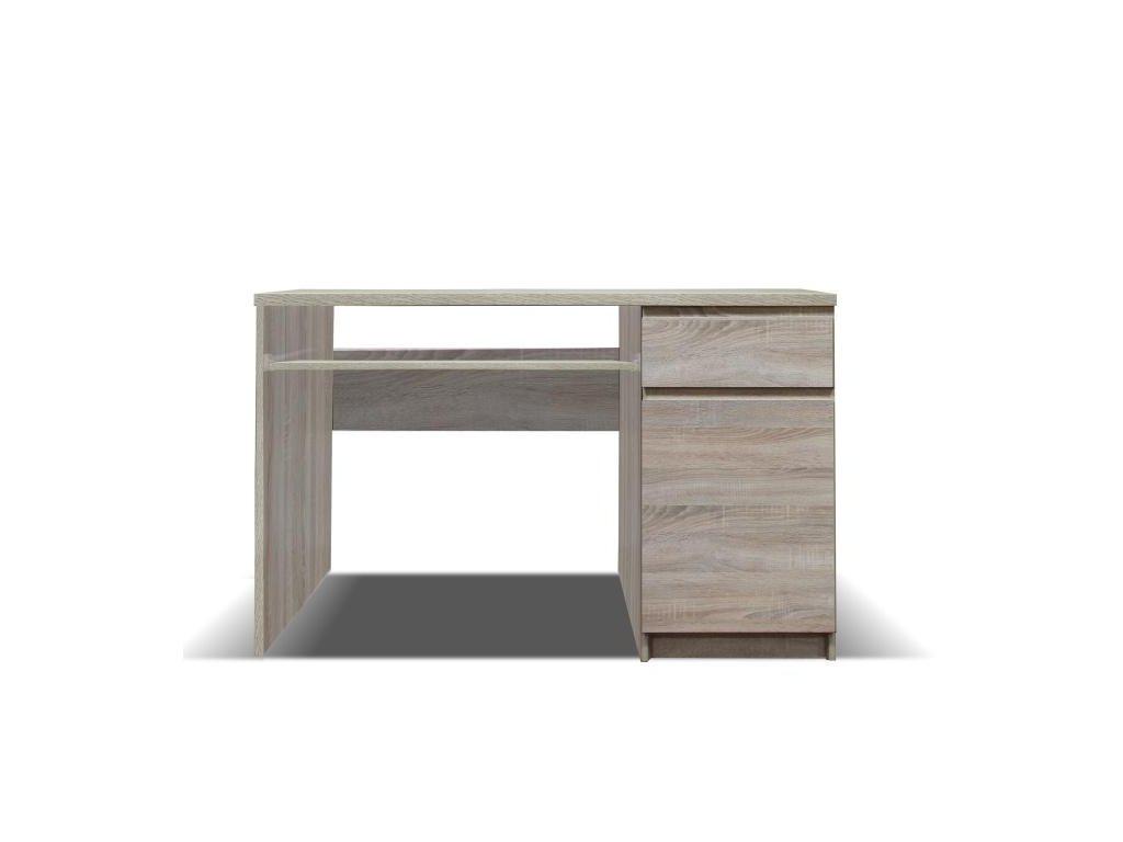 PC stôl, typ 10, jednodverový, jednozásuvkové, dub sonoma, PANAMA