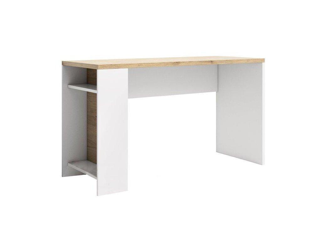 PC stôl LI14, san remo / biela, DUSTER
