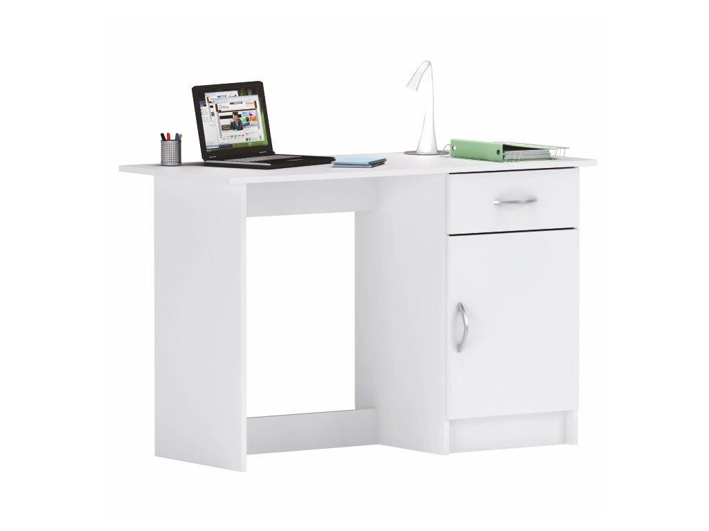 Písacie a PC stôl Sirris biely