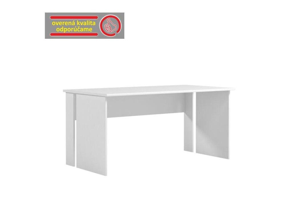 PC stôl, biela, BEK- 09