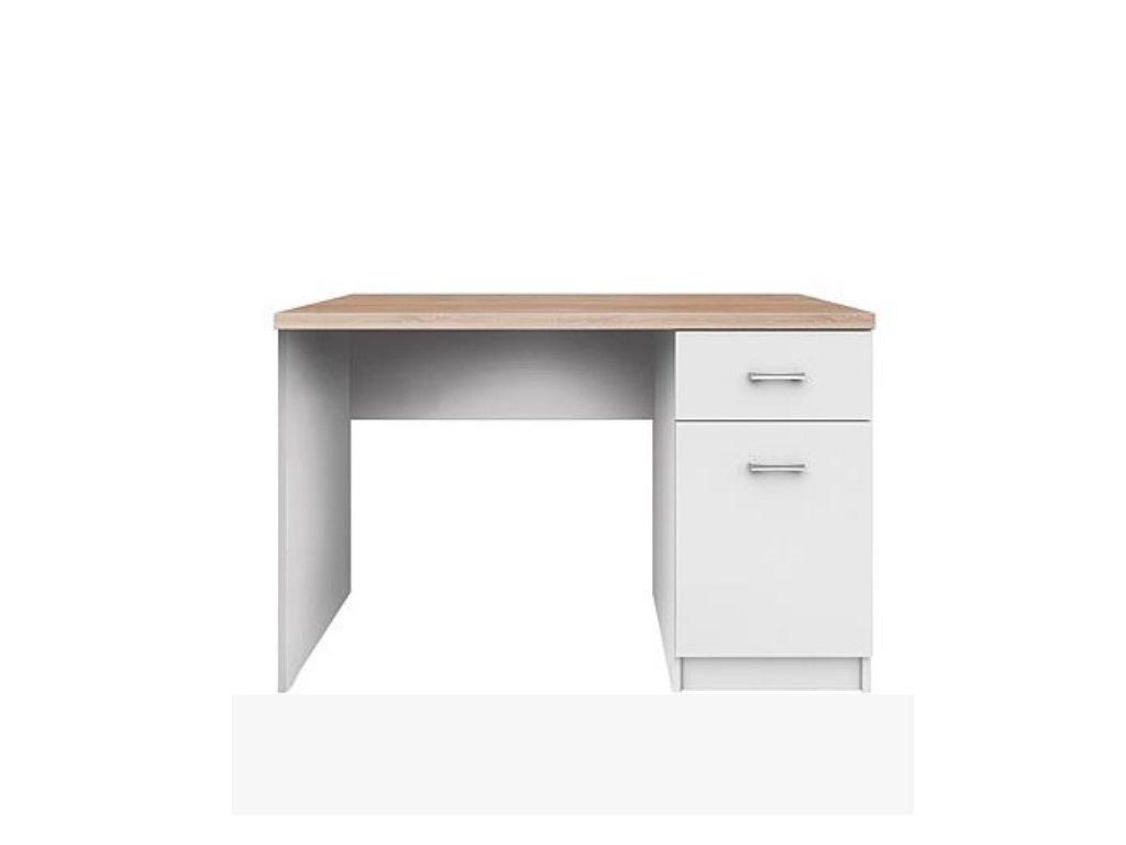 Písacie a PC stôl TopTech Typ09 odtieň dub sonoma / biela