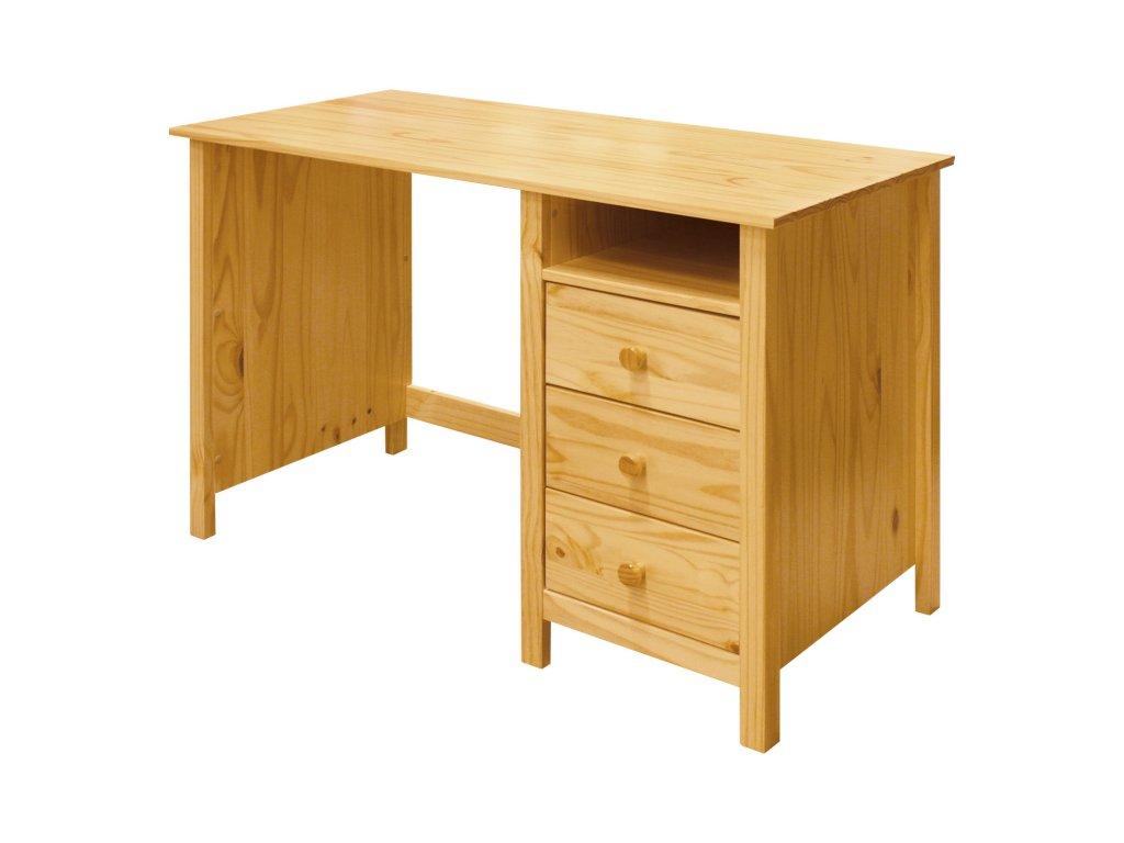 Písací stôl Torino 3 zásuvky borovica masív