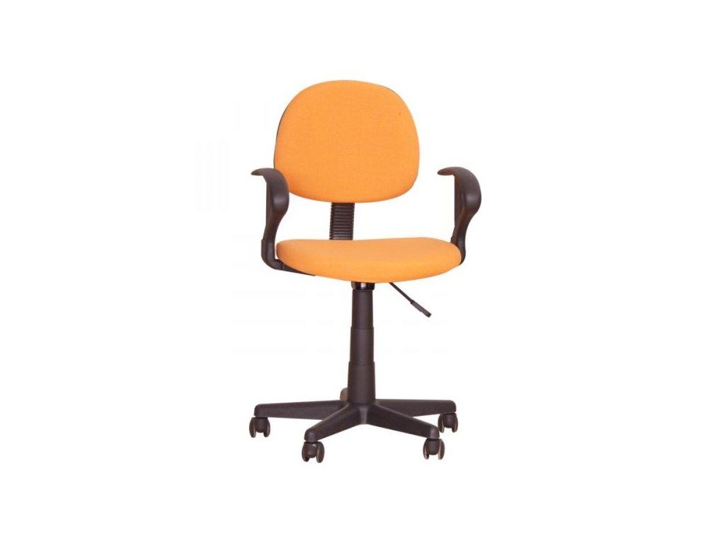 Kancelárska stolička TC3-227 oranžová s opierkami