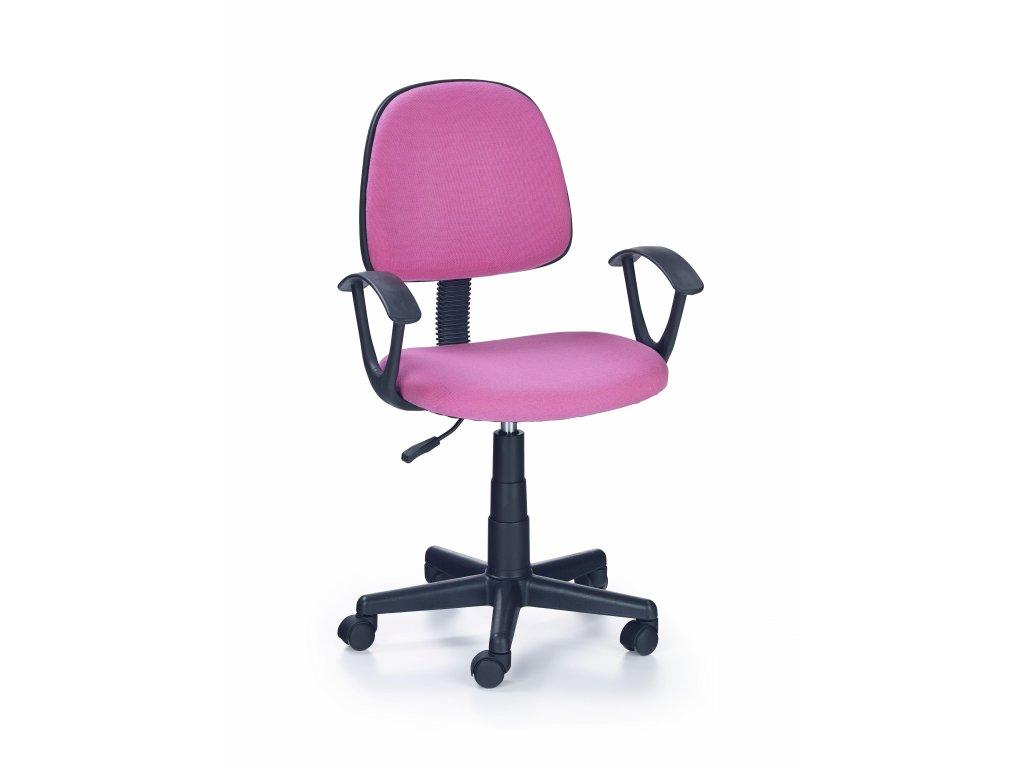 Detská stolička Darian ružová s područkami