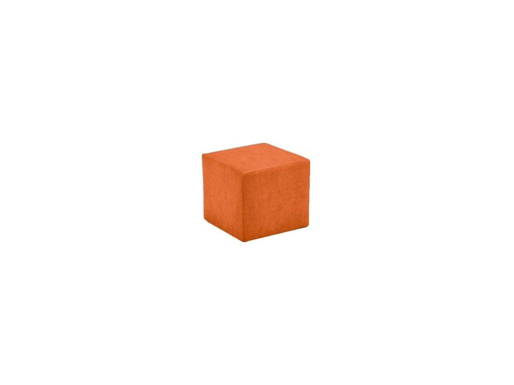 Taburet Cuby oranžový /nosnost 150 kg