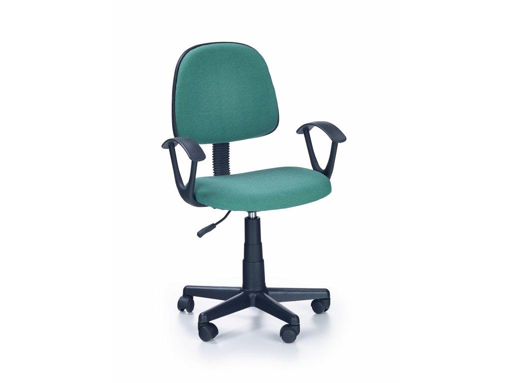 Detská stolička Darian zelená s područkama