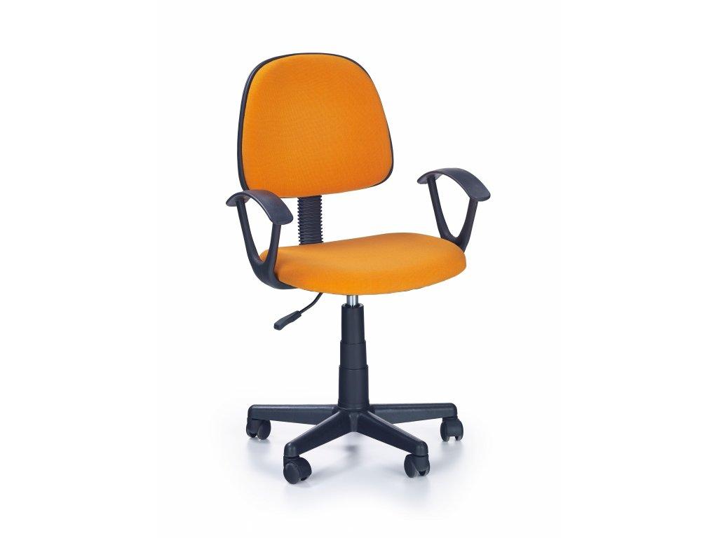 Detská stolička Darian oranžová s područkama