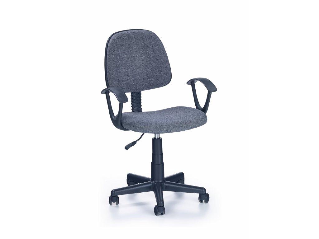 Detská stolička Darian sivá s područkama