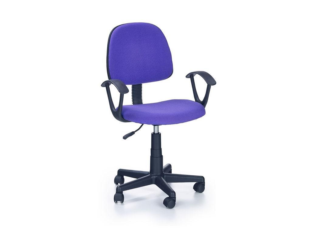 Detská stolička Darian fialová s područkama