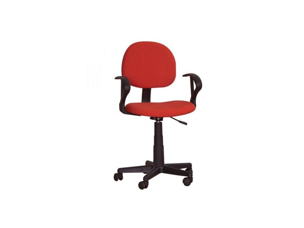 Kancelárska stolička TC3-227 červená s opierkami