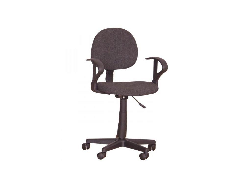 Kancelárska stolička TC3-227 čierna s opierkami