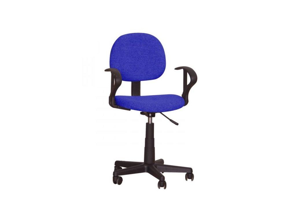 Kancelářská židle TC3-227 modrá s područkami