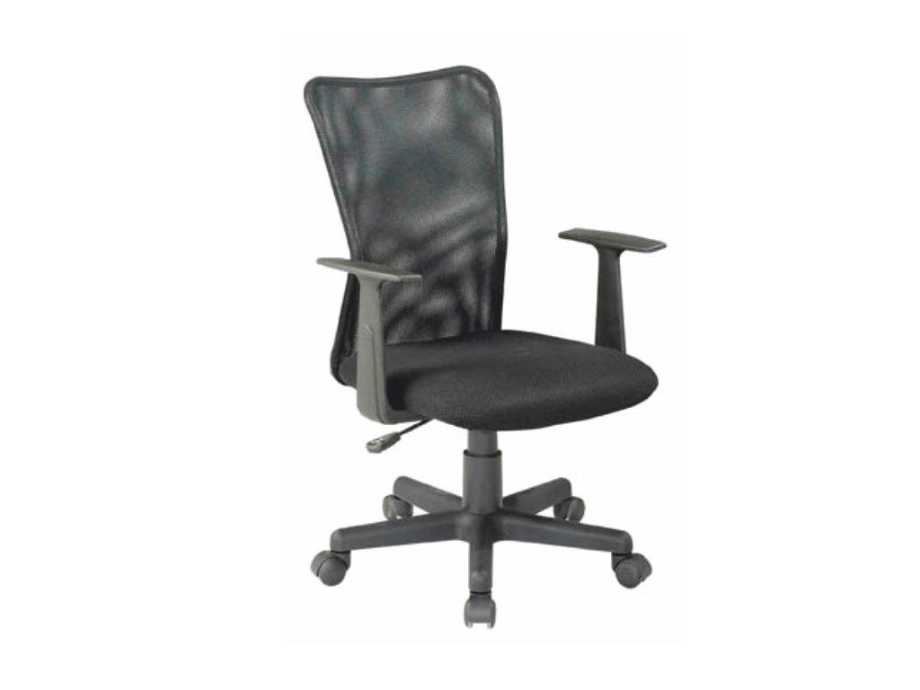 Kancelárska stolička REMO čierna s opierkami