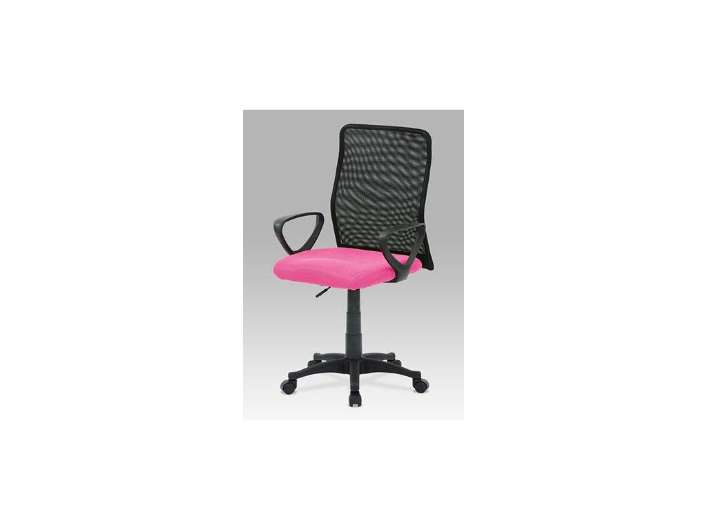 Kancelárska stolička KA-B047 PINK čierno ružové s opierkami