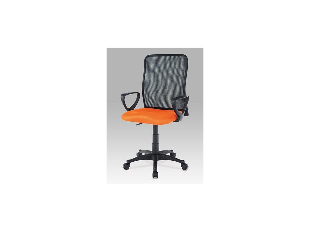 Kancelárska stolička KA-B047 ORA čierno oranžové s opierkami